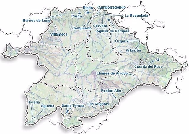 Cuenca Del Duero Mapa.Los Embalses De La Cuenca Del Duero Al 36 7 De Su Capacidad