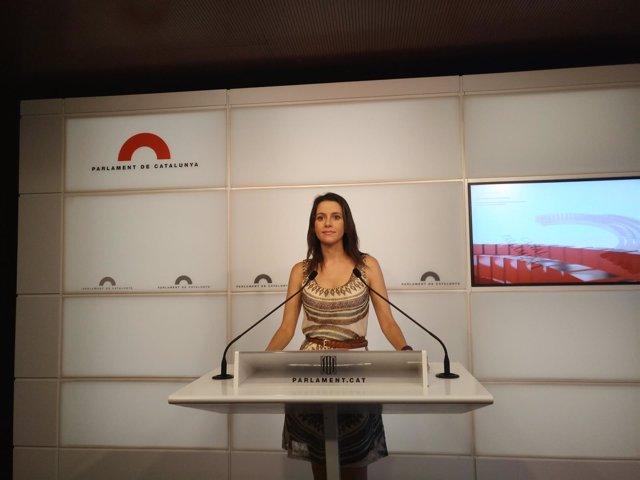 La líder de Cs en el Parlament, Inés Arrimadas