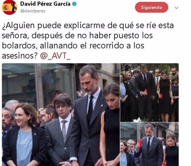 Imagen del tuit de David Pérez