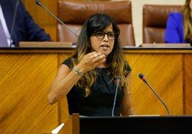 """Teresa Rodríguez (Podemos) reitera su apoyo a Juana Rivas y garantiza que lucharán """"por sus derechos"""""""