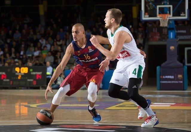 Stefan Peno FC Barcelona Lassa contra Zalgiris Kaunas