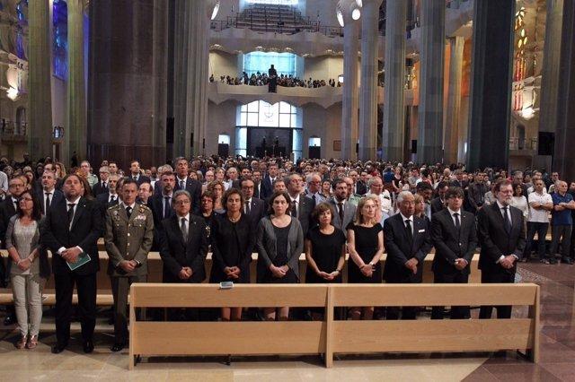 Los Reyes en la misa en memoria de las víctimas de los atentados de Cataluña