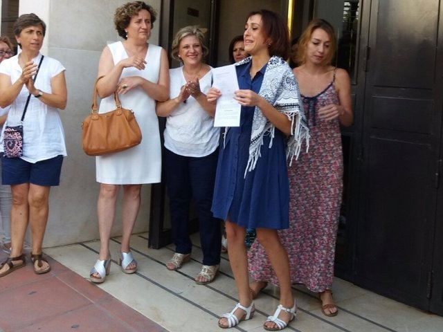 Juana Rivas, a la salida de los juzgados de Granada