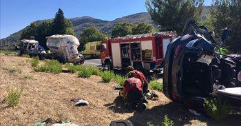 Detenido por homicidio imprudente el conductor del camión del accidente mortal en Mallorca