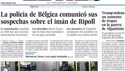 Las portadas de los periódicos de hoy, miércoles 23 de agosto de 2017