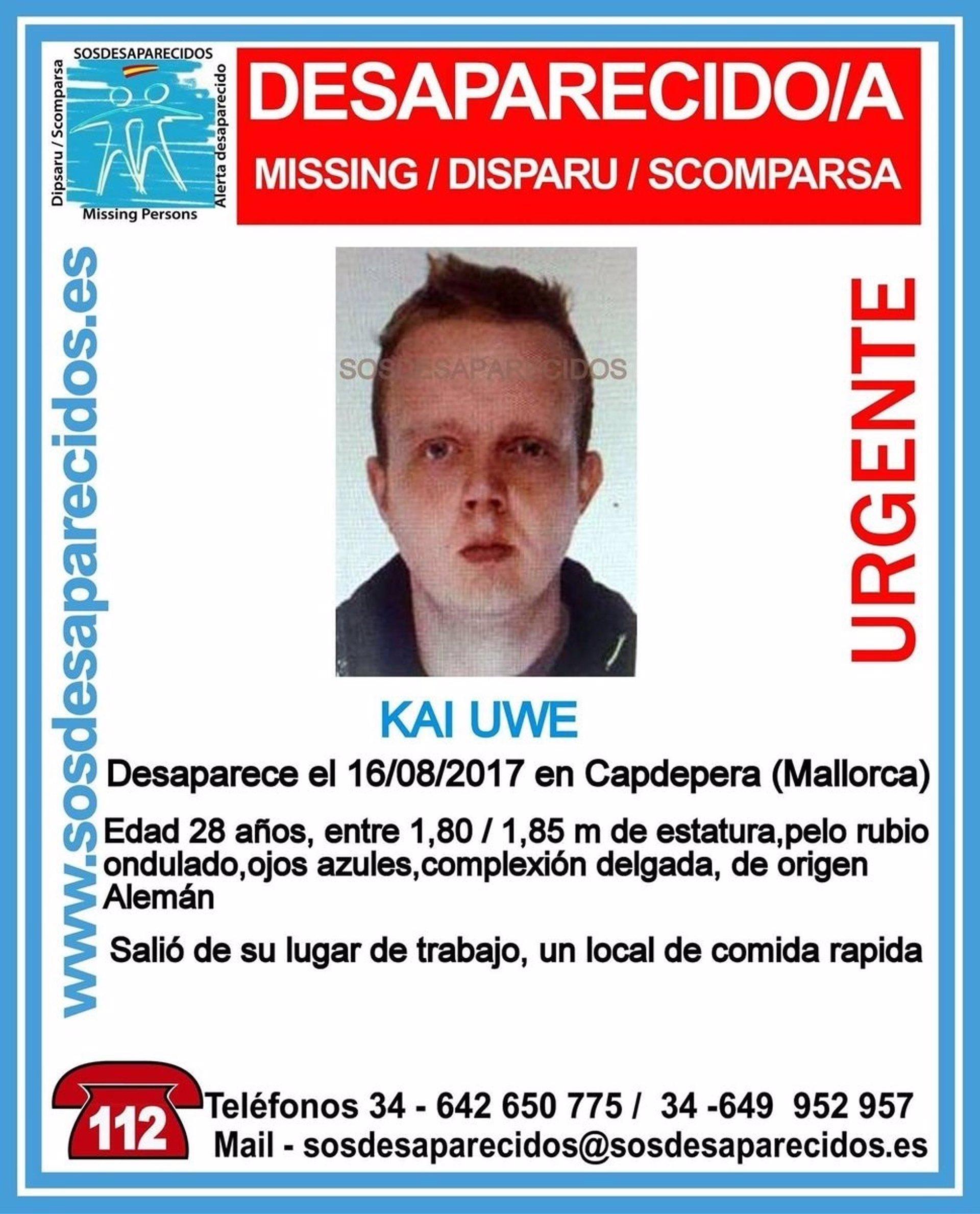 Solicitan colaboración para localizar a un hombre desaparecido en Capdepera