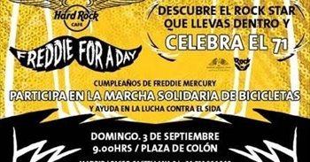 Hard Rock Cafe Madrid homenajea el 3 de septiembre a Freddie Mercury con una marcha solidaria en bicicleta