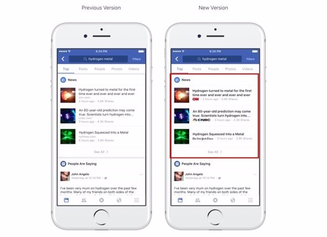 Facebook logos medios de comunicación periodismo fake news redes sociales