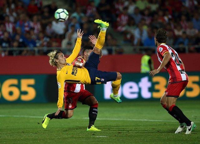 Antoine Griezmann en el Girona - Atlético Madrid