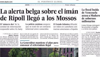 Las portadas de los periódicos de hoy, jueves 24 de agosto de 2017
