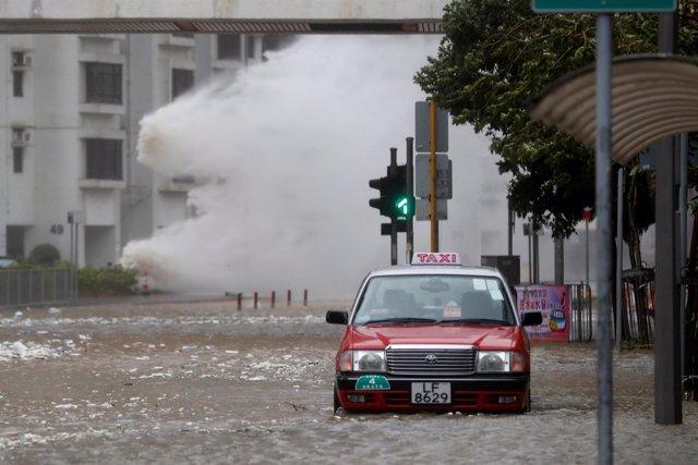 El tifón Hato en Hong Kong.