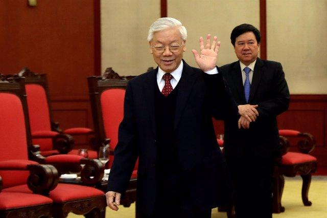 El líder del Partido Comunista de Vietnam, Nguyen Phu Trong.