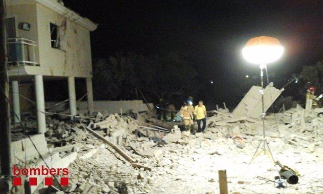 Explosión en una casa en Alcanar (Tarragona)