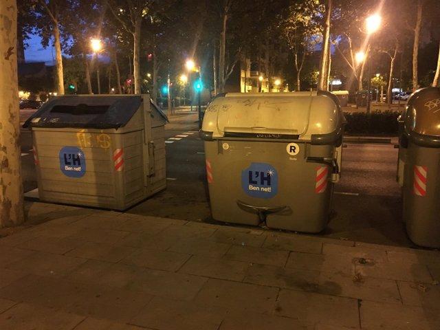 Contenedores de basura de L'Hospitalet de Llobregat (Barcelona)