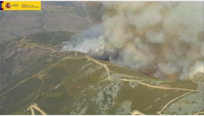 La Junta eleva a 8.000 las hectáreas calcinadas por el fuego intencionado de Encinedo