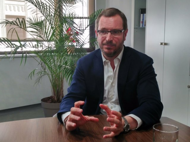 Javier Maroto, vicesecretario Sectorial del PP, entrevistado por Europa Press