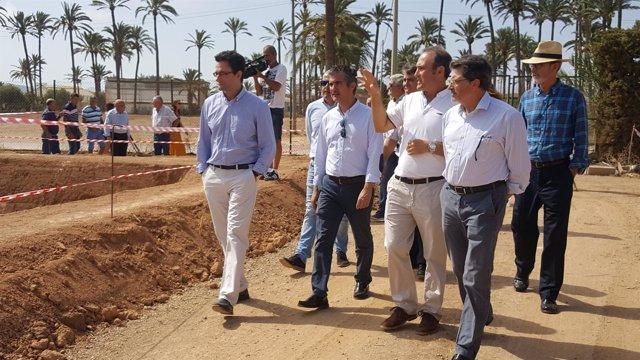 Jódar con agricultores del Campo de Cartagena y técnicos