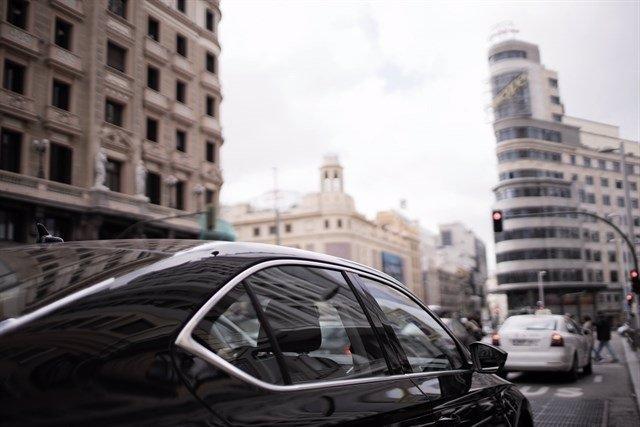 Coche de Uber en Madrid