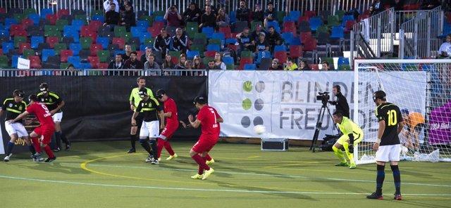 La selección española de fútbol para ciegos se mete en la semifinal de la Euroco