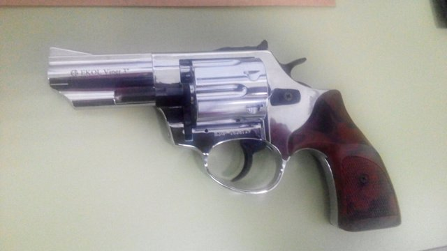 Arma simulada intervenida en Santa Justa