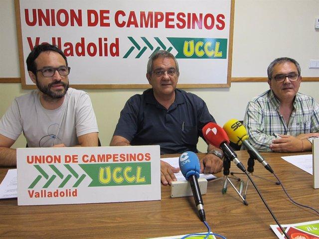 Ignacio Arias (centro), Enrique Cortés (izda) y Emilio Alba.