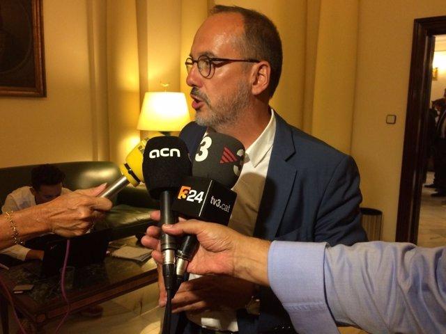 Carles Campuzano, en el pacto antiterrorista