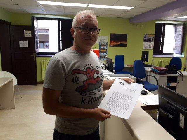 El coordinador del Ligallo de CHA-Huesca, David Félez