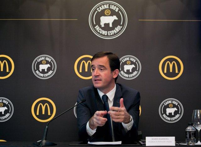 El presidente de McDonald's España, Mario Barbosa