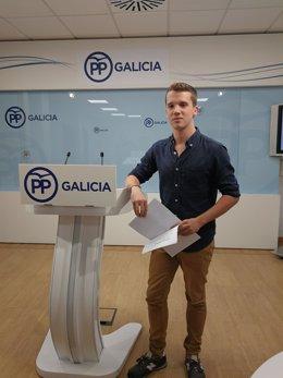 Adrián Pardo presenta su candidatura a presidente de Novas Xeracións PPdeG
