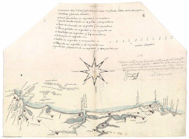 Experto de la US estudia uno de los primeros ejemplos de cartografía náutica
