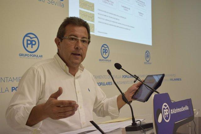 El concejal popular Alberto Díaz