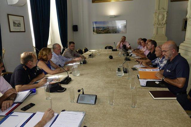 De la Torre, alcalde, Málaga, reunión, taxi, agosto,