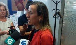 La conselleira de Infraestruturas Ethel Vázquez.