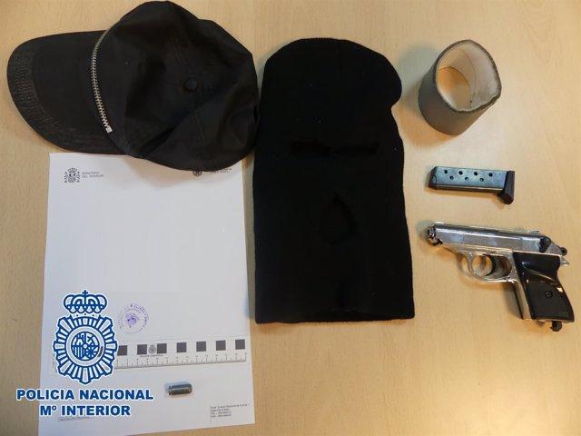 El material de los detenidos