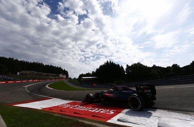 Fernando Alonso (McLaren) en el GP Bélgica 2016
