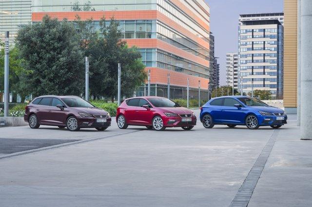 Tres generaciones del Seat León
