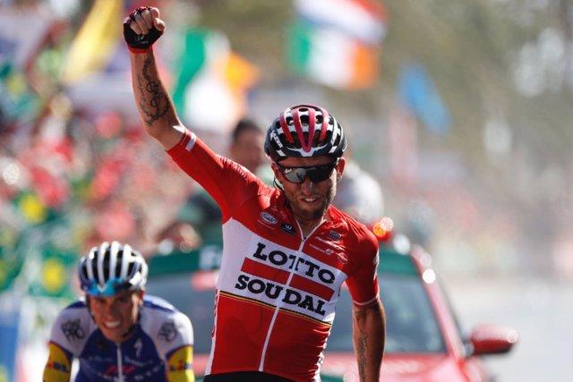 Tomasz Marczynski (Lotto-Soudal) gana en la Vuelta