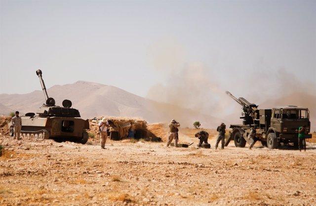 Combatientes de Hezbolá en Siria