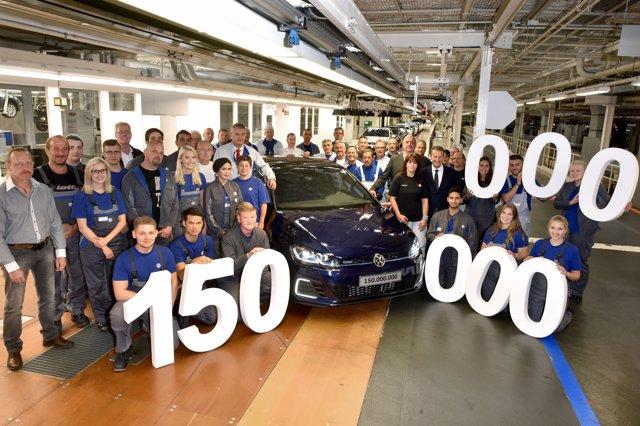 Volkswagen produce 1.500.000 vehículos en su planta de Wolfsburg