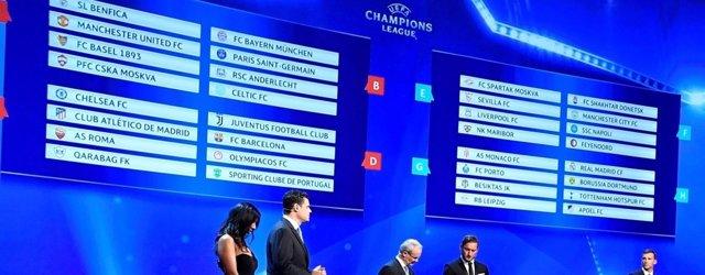 Duros grupos para Madrid y Atlético; Barcelona y Sevilla, mejor parados