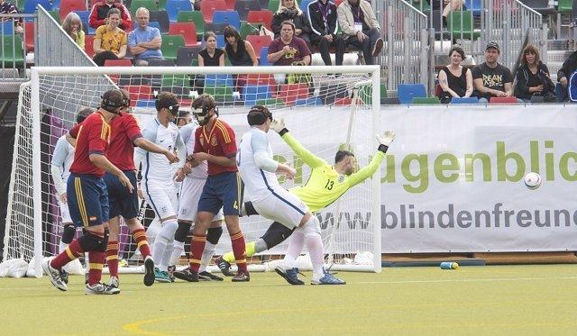 España jugará la final del Europeo de fútbol para ciegos de Berlín