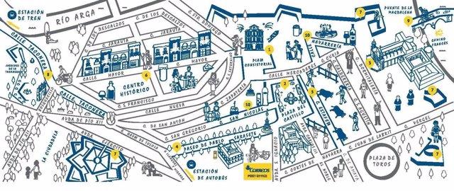 Pamplona Bus Offline Map (PDF)