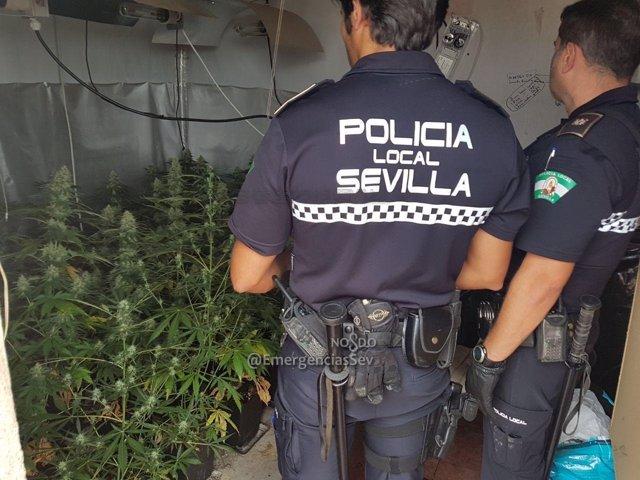 Policía Local en el lugar de los hechos