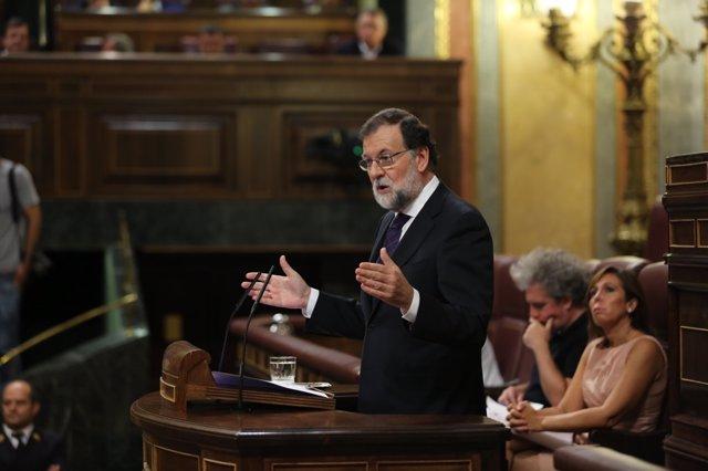 Rajoy en el Congreso.
