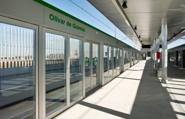 Estación de Olivar de Quintos.