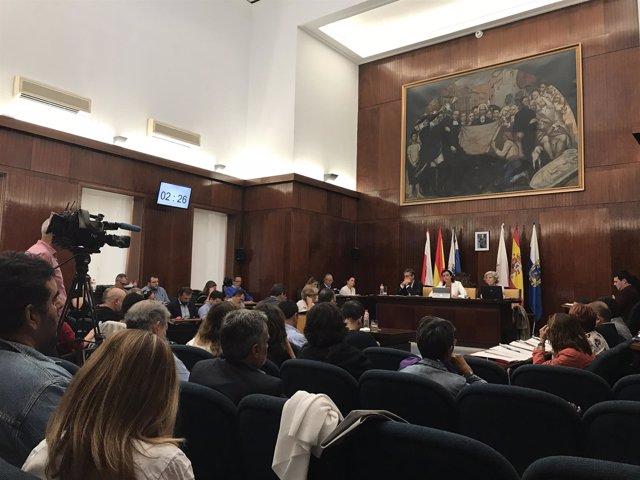 Pleno del Ayuntamiento de Santander, agosto de 2017