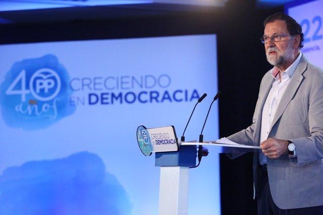 Rajoy en la Interparlamentaria del PP en Alboraya