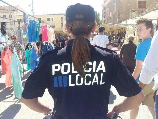 Policía local control en mercados