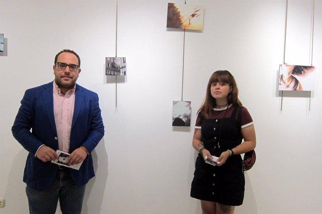 Daniel Llanos y la artista  María José Ruiz.