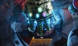 Thanos exhibe El Guantelete con todas las Gemas del Infinito en Vengadores: Infinity War